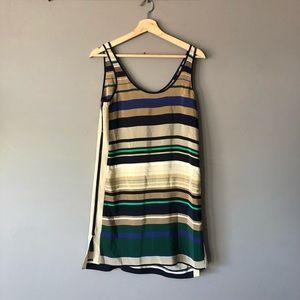 Club Monaco striped silk dress size 0